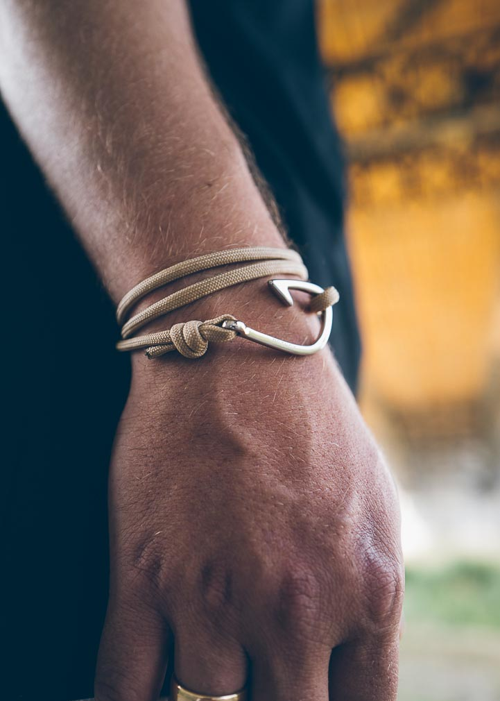 Armband Haken Basic Paracord Edelstahl