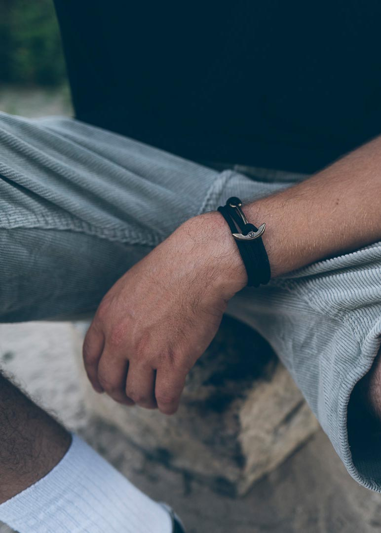 Armband Anker Basic Paracord Altgold