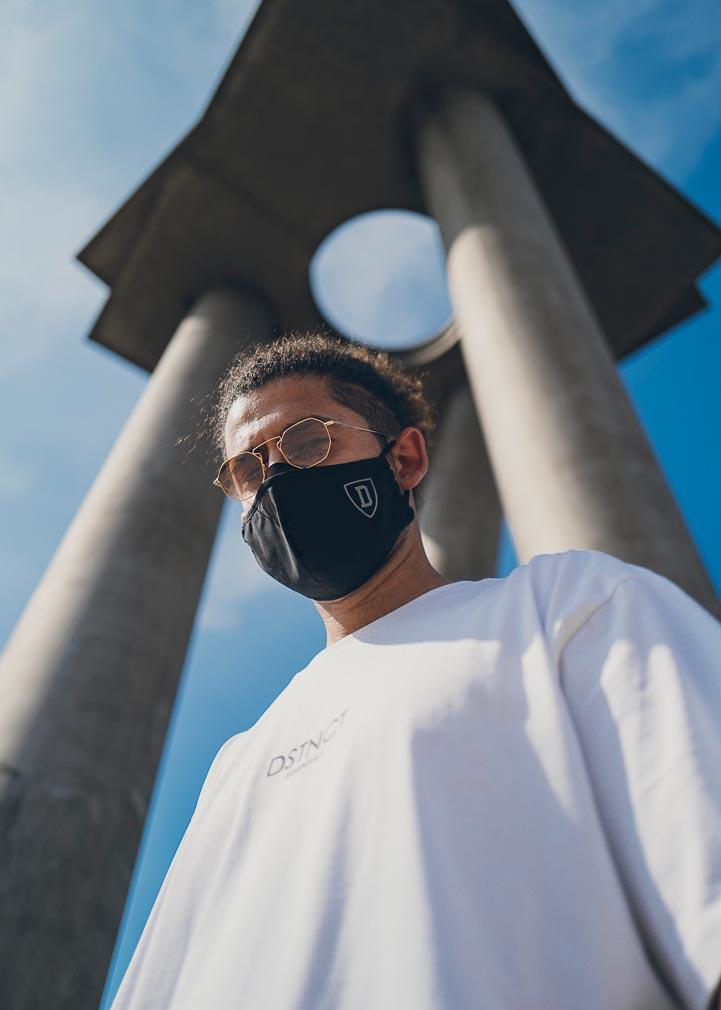 Mundschutz Maske Schwarz Shield