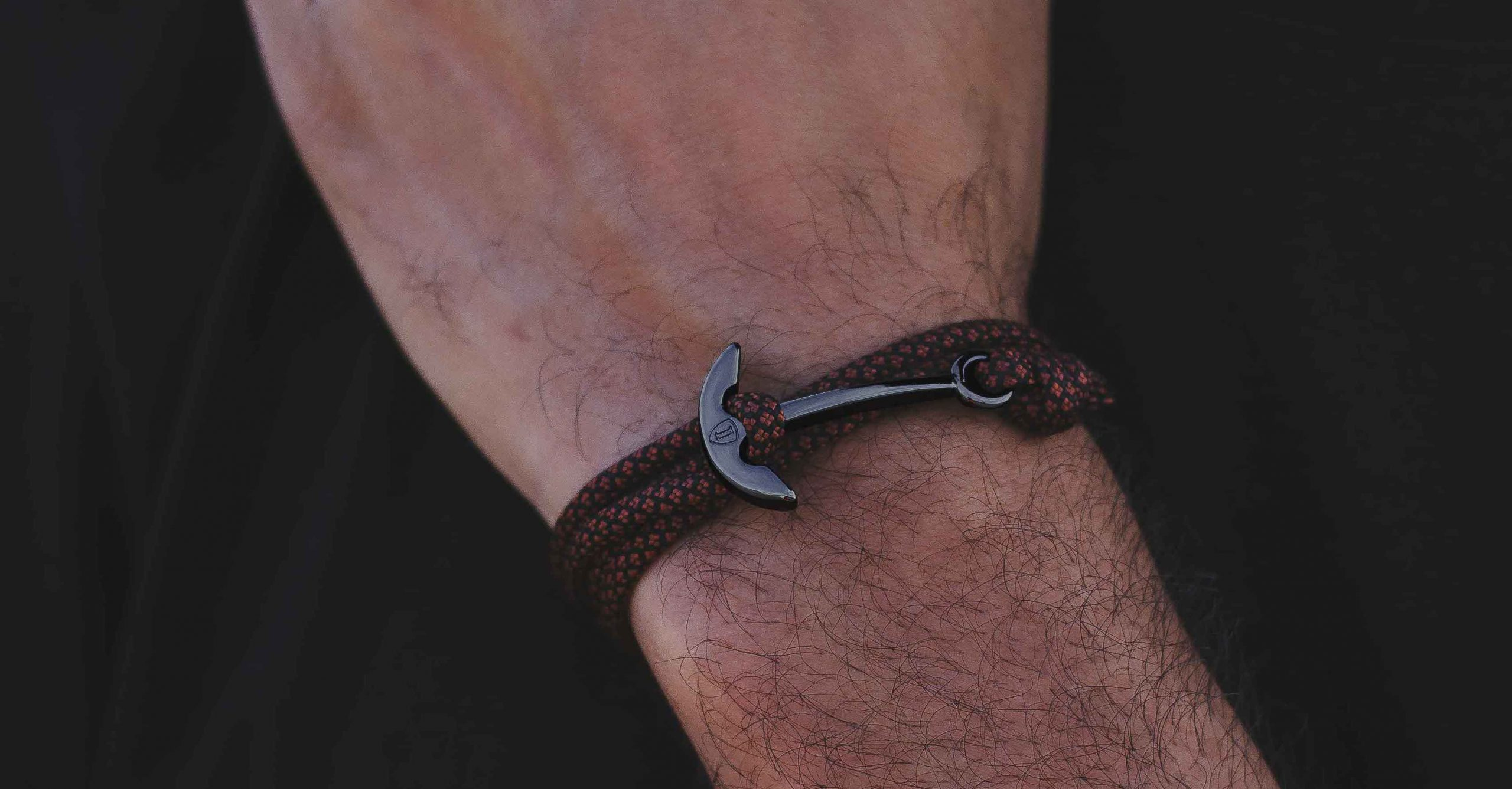 Rust Armband Anker Paracord Granit